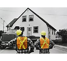 The Logistics of Moving a House Photographic Print
