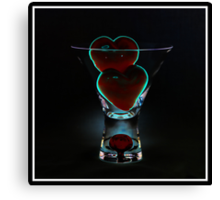 V Day - The Red Blob Glass - Week 5 Canvas Print