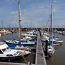 Moored in Watchet by kalaryder