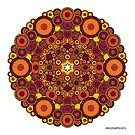 Mandala 37 Coloured v1.0 Prints, Cards & Posters by mandala-jim