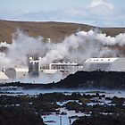 Geothermal Plant and Blue Lagoon, Iceland  by Derek  Rogers