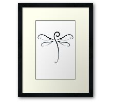 Swirly Dragonfly Tee (for light Tee's) Framed Print