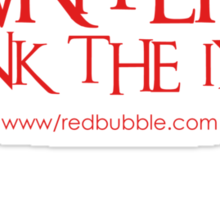RB Writers shirt (red text) Sticker
