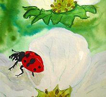 Strawberry Blossom Ladybug by TrixiJahn