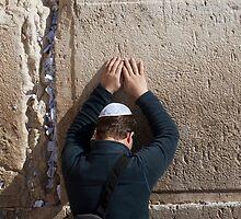 Devotion at the Wailing Wall, Jerusalem by Tony Roddam