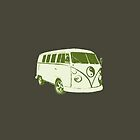 VW camper ying yang green by Chris-Cox