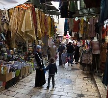 Street scene, Old City Jerusalem by Tony Roddam
