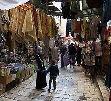 Street scene, Old City Jerusalem by Tony Roddam
