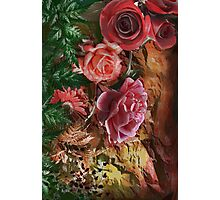 Background with flowers . Photographic Print