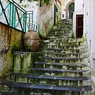 Steep rain-soaked steps, Minori, Amalfi Coast, Italy by Andrew Jones