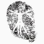 Vitruvian Man Fingerprint (Light) by spaulfam