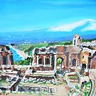 The Greek Theater in Taormina  by Teresa Dominici