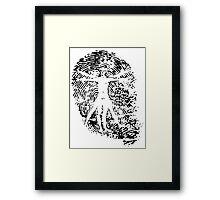 Vitruvian Man Fingerprint (Light) Framed Print