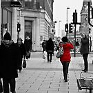 The Lady in Red. by Michael Upshon