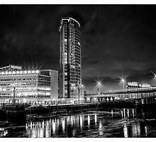 Obel Tower And The River Lagan by peter donnan