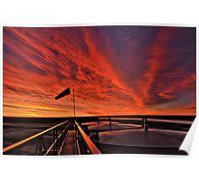 """Sunrise over the """" Bakken """"  Poster"""