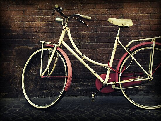 Pink Bicycle by Caroline Fournier