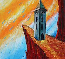 Oil Painting - The Watchtower I. 2012 by Igor Pozdnyakov