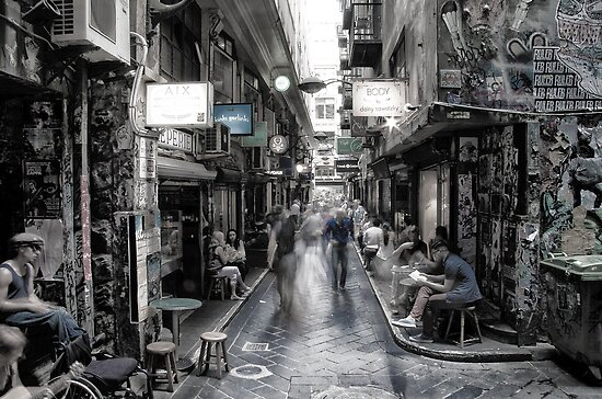 "Melbourne Degraves St "" Surreal ST series ""  by Hany  Kamel"