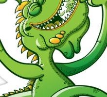 Saint Patrick's Day Iguana Sticker