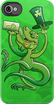 Saint Patrick&#x27;s Day Iguana by Zoo-co