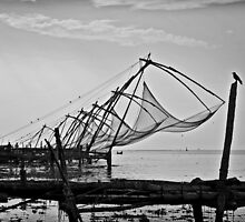 Fort Cochin's Chinese fishing nets by Sid Paleri