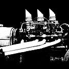 Rat Rod - Motor (B&W) by blulime