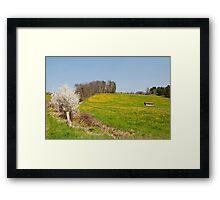The hills of Zufikon Framed Print
