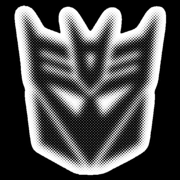 Halftone Decepticon Symbol, Black by WUVWA