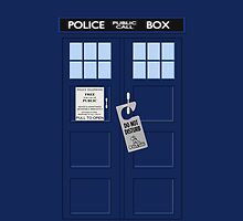 Tardis Don't Disturb by Alternative Art Steve