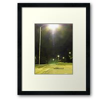 Crosswalk Loitering Framed Print