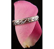 Rose Petal Ring Photographic Print