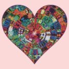 Mosaic Gems Heart by gretzky