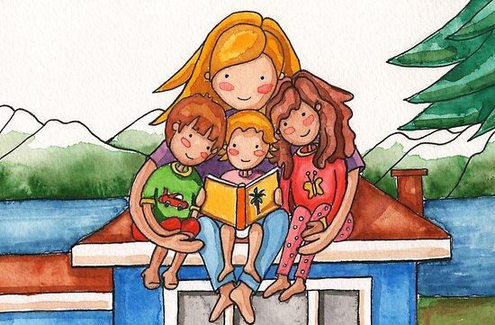 Homeschooling Family by Erika  Hastings