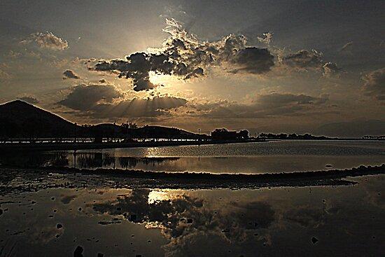 Elounda Salt lakes  by larry flewers