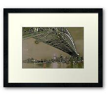 Sydney Harbour Bridge and Opera House Framed Print