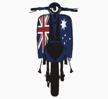 Retro look scooter Australian flag decals by Auslandesign