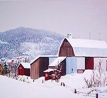 Barns in Winter by Dan Wilcox