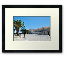 Famous square in Cascais Framed Print