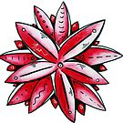 Fun & Funky Tropical Pink Lotus Flower PoP Art by MADART by MADARTDesigns