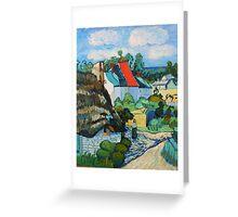 Van Gogh, A Study of a Straw Hut Greeting Card