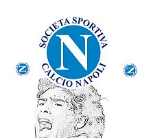 SSC Napoli with Maradona tribute by Joseph Colella