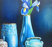 Blue Still life with Iris by lanadi
