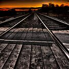 Tracks at Sunset by Nigel Butterfield