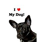 I Heart My Dog! Little Black Dog iPhone &amp; iPod Cases by Patricia Barmatz