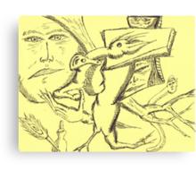 character assassination Canvas Print