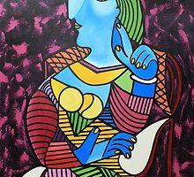 Mujer con sombrero by paintingcuba