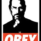 OBEY Steve Jobs by Royal Bros Art