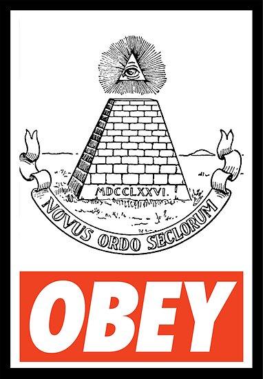 OBEY illuminati by Royal Bros Art