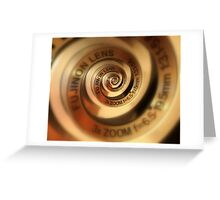 3 x Zoom Lens Greeting Card